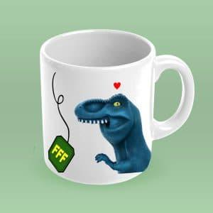 Caneca de Chá Dinofauro